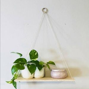 Light wood hanging shelf